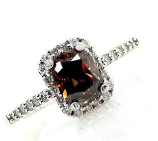 GIA Certified 14K Gold Chocolate Diamond Ring