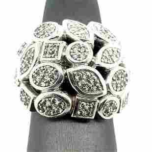 David Yurman Diamond Cable Confetti Dome Ring