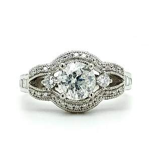 Certified & Appraised Platinum Diamond Ring