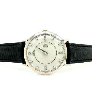 14K White Gold Longines Mystery Dial Watch