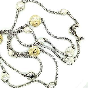 John Hardy Dot Collection Silver 18K Gold Necklace