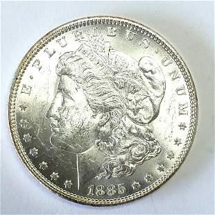 1885 Morgan Silver Dollar Choice BU