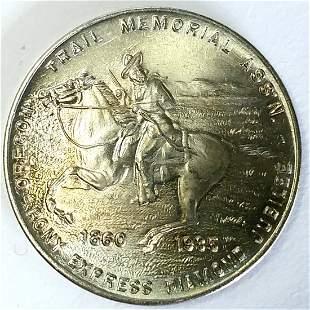 1935 PONY EXPRESS DIAMOND JUBILEE Gem BU