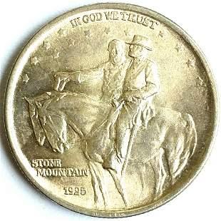 1925 Stone Mountain Silver Half Dollar ChUnc