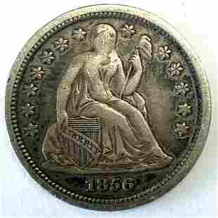 1856 LIBERTY SEATED DIME Choice XF