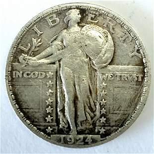 1924 Standing Liberty Quarter XF+
