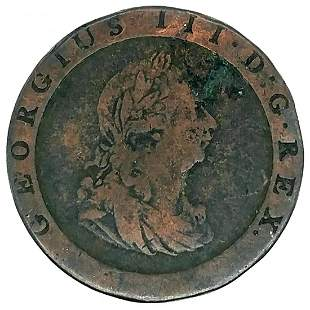 1797 Great Britain Cartwheel Penny VF+