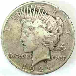 1921 High Relief Peace Dollar XF+