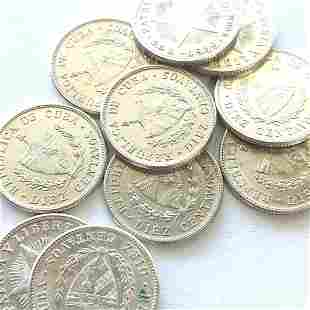 10 count 1948-49 Cuba 10 Centavos Unc.