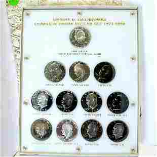 Complete Eisenhower 12 Coin Proof Dollar set
