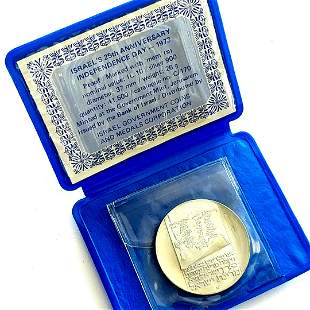 Israel Silver 25th Anniversary Independence Coin