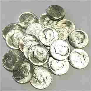 1964 $10 Roll of BU JFK 90% Silver Halves