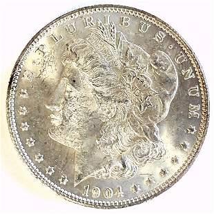1904 O Morgan Silver Dollar Choice BU
