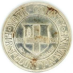 1936 York Silver Commemorative Half Dollar