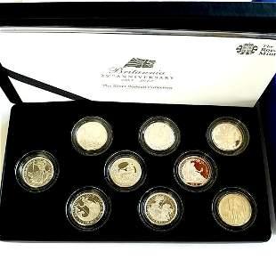 Britannia 25th Anniversary 9-Coin Silver Set