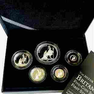 2013 Britannia 5 Coin Silver Proof Set