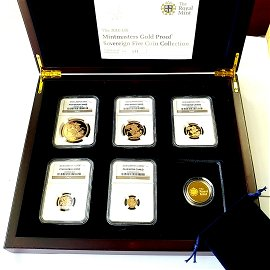 2010 Gold Proof Sovereign 5 coin set NGC PF69