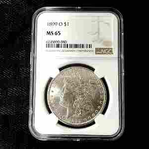 1899 O Morgan Silver Dollar NGC MS565