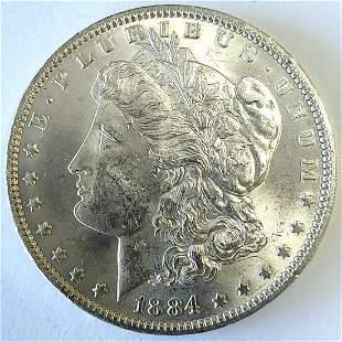 1884 O Morgan Silver Dollar Ch. BU