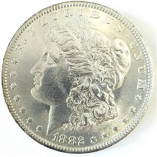 1882 O Morgan Silver Dollar Ch. BU