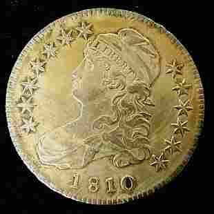 1810 Silver Bust Half-Dollar XF-AU