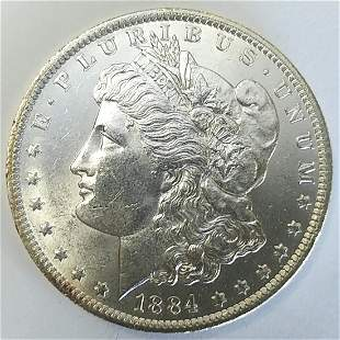 1884 O Morgan Silver Dollar Choice BU
