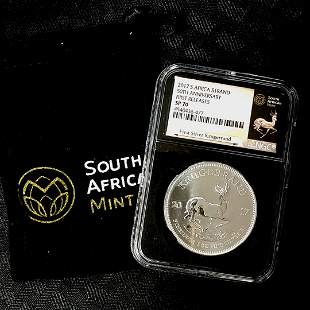 2017 Silver Krugerrand NGC SP70 FR with Pouch COA