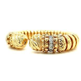 Signed Alwand Vahan 14K Gold Diamond Bracelet
