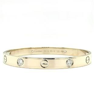 Cartier 18K White Gold Diamond Bangle Bracelet