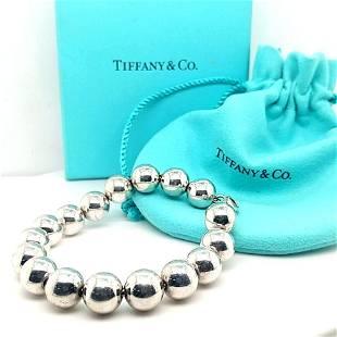 Tiffany & Co. Sterling Silver 10 mm Bead Bracelet