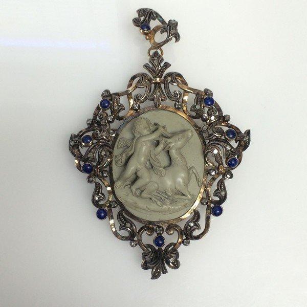 Lava Cameo Cherub Circa 1850'2