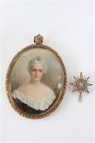 Listed Portrait Artist Mary Langdon Cheney and Pendant