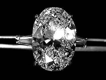 10.00 Carat  Oval Diamond G- VVS1 Platinum GIA