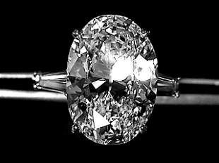 10.00 Carat  Oval Diamond G- VVS1 Platinum GIA