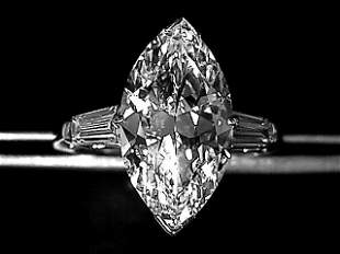 5.34 Carat  Marquis I  VS2 Diamond set in Platinum
