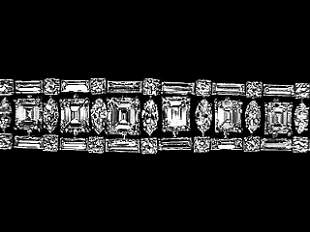 29.15ct Platinum Ladies Diamond Bracelet