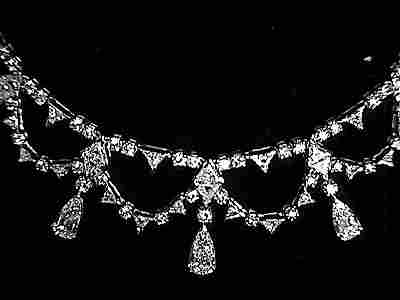 Platinum and 36ct Diamond Drape Necklace