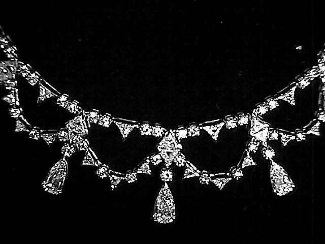 Platinum and 36ct Diamond Drape Necklace