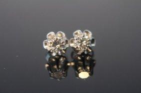 Diamond Studs Vintage 14k White Gold
