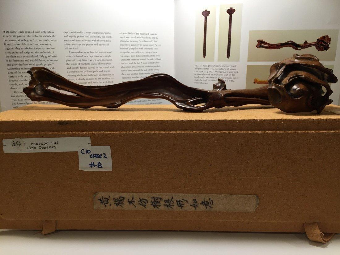 18th C. Chinese Boxwood Carving Ruyi