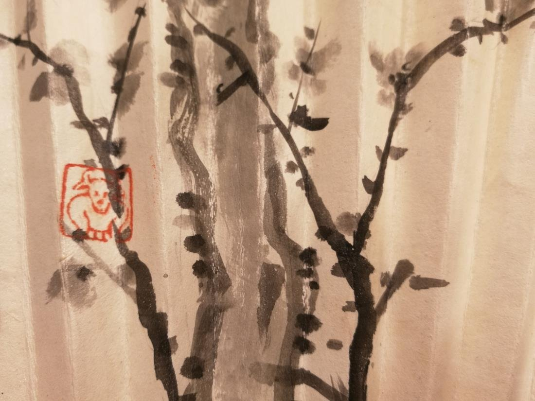Old Chinese Fan Painting - 5