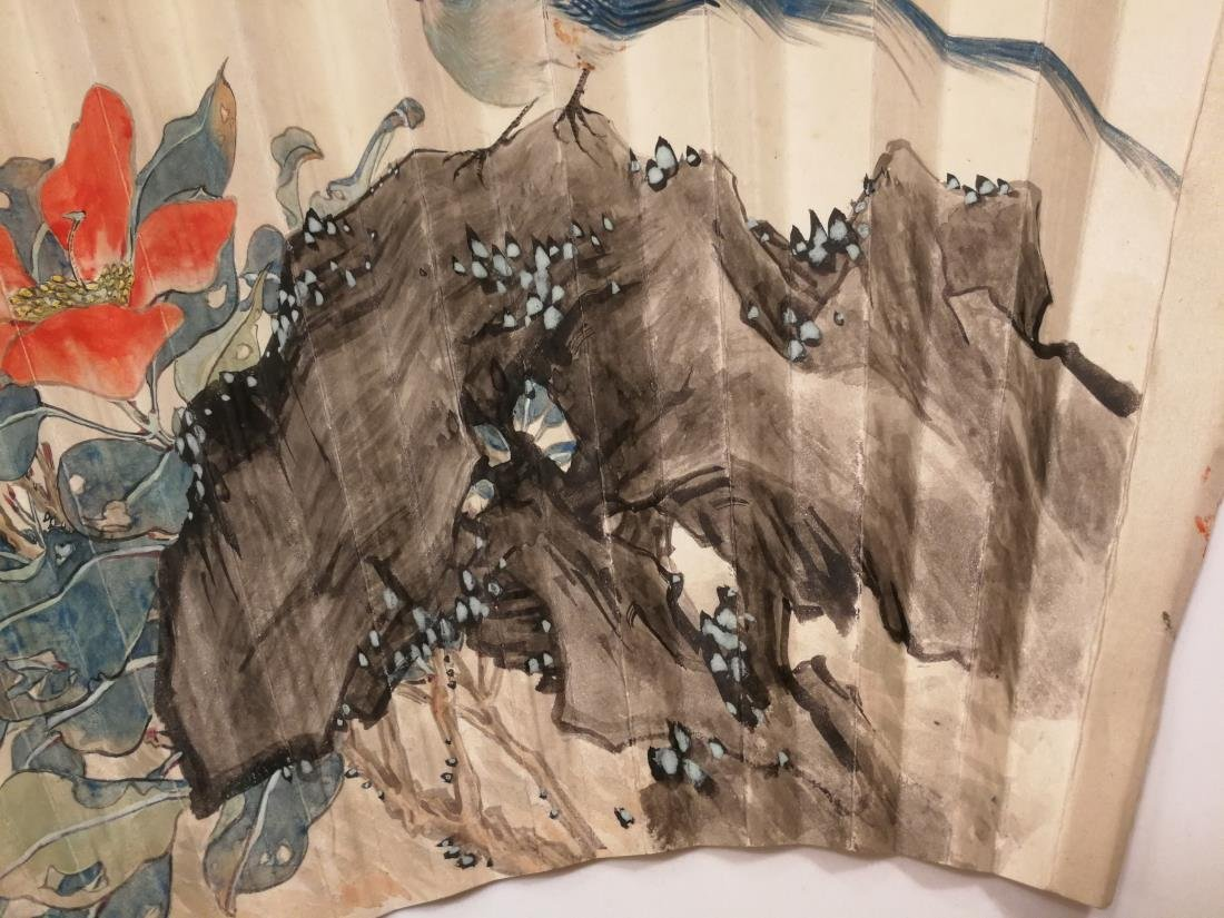 Old Chinese Fan Painting - 3