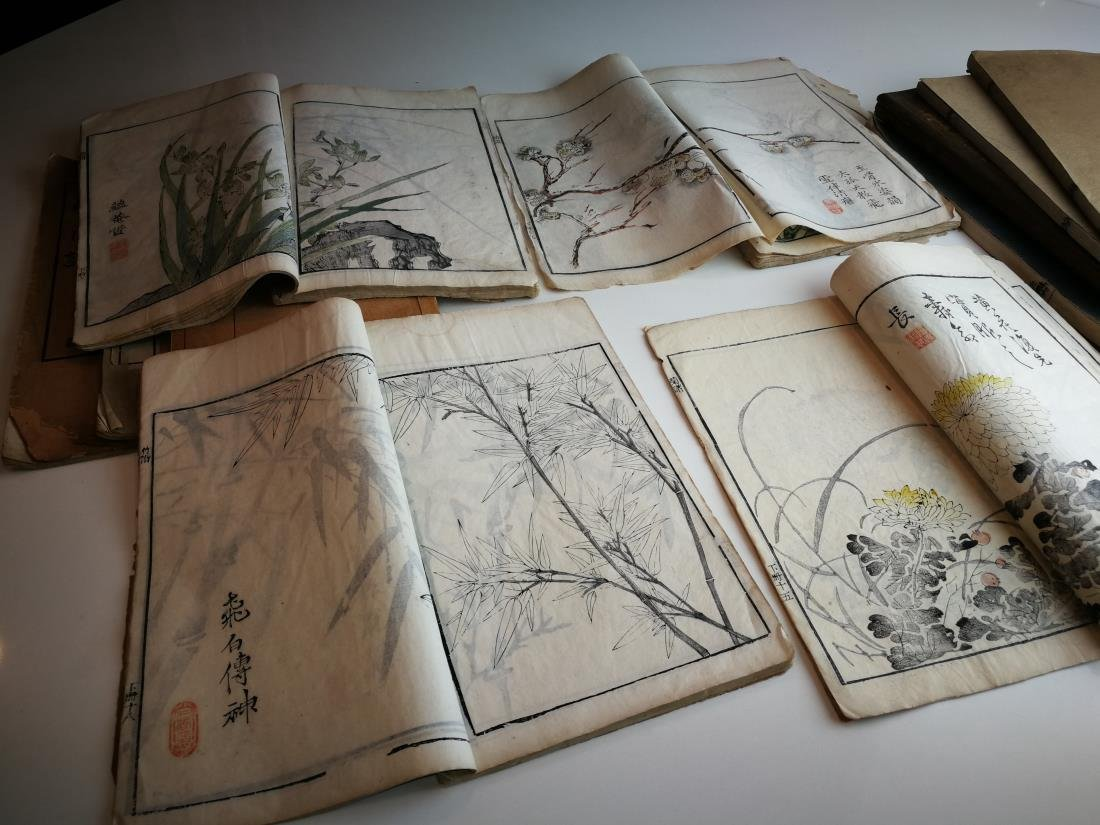 Antique Chinese Books 11 Volumes - 6