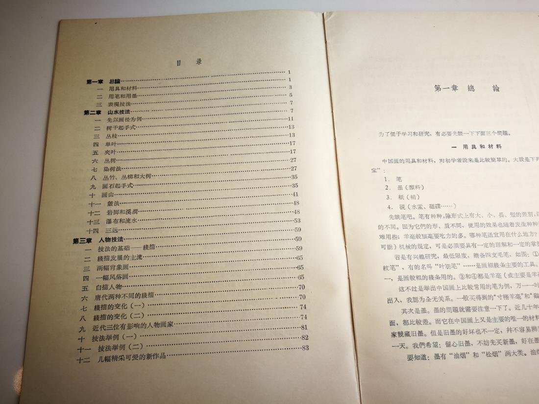 1955 Paintings Book by Famous Artist Fu Bao Shi - 4