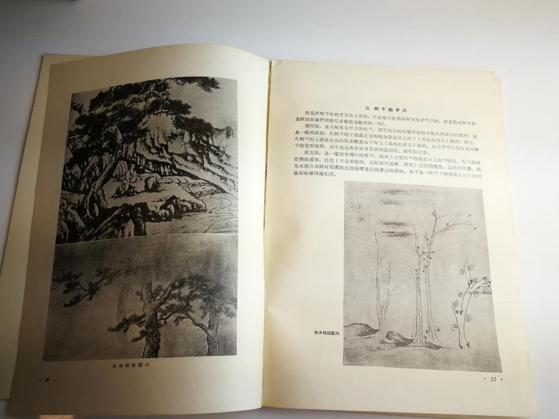 1955 Paintings Book by Famous Artist Fu Bao Shi - 5