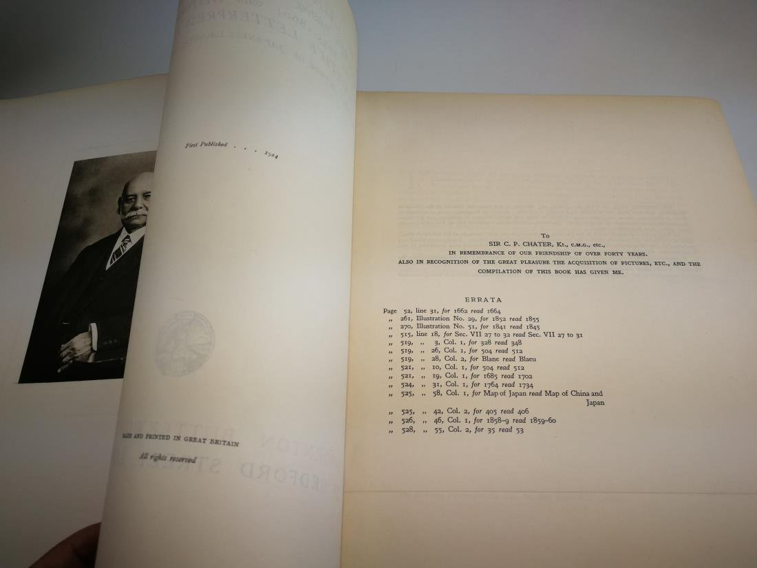 Book THE CHATER COLLECTION Limited Copies In 1924 - 3