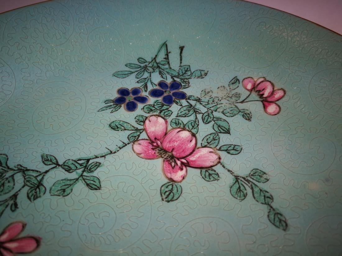 Chinese Famille Porcelain Flower Dish Qianlong Mark - 3