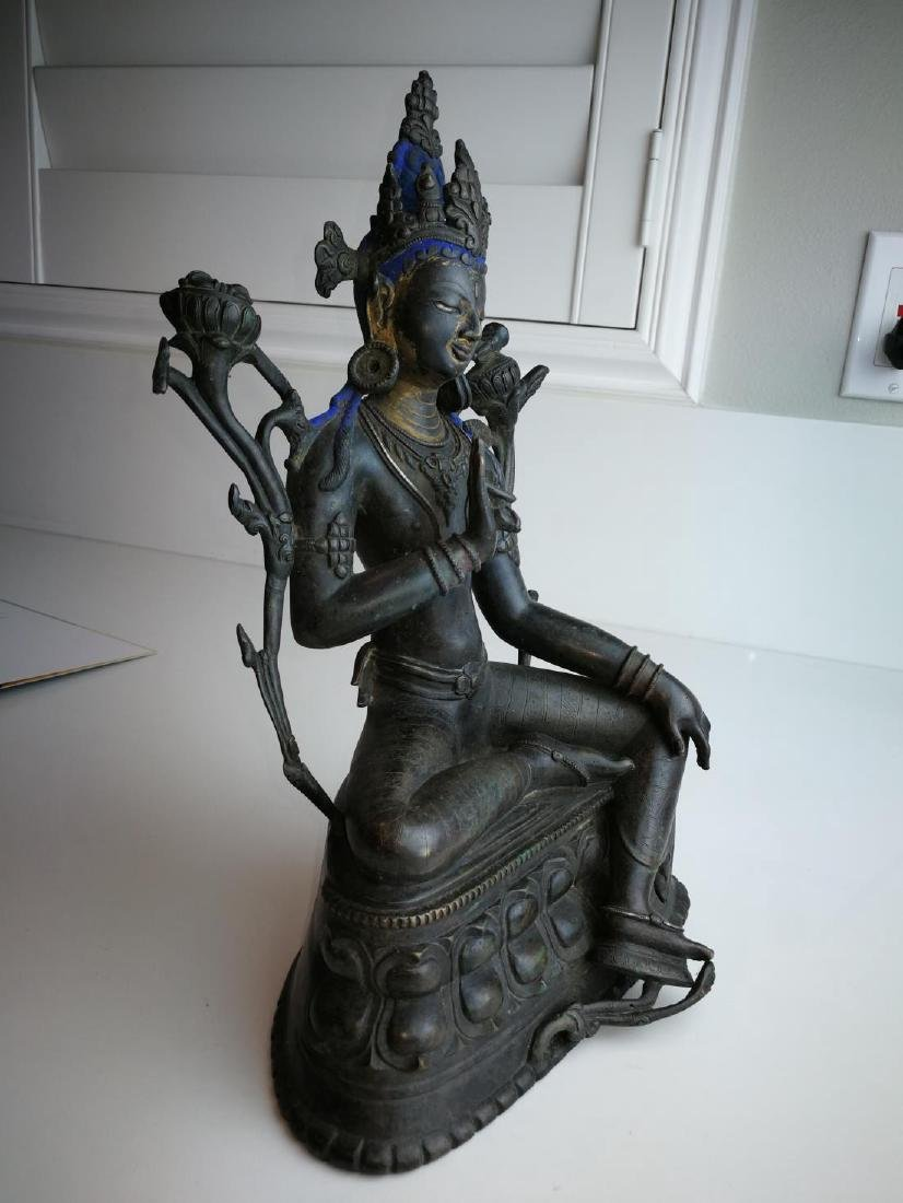 Antique Nepal or Tibet Bronze Buddha - 2
