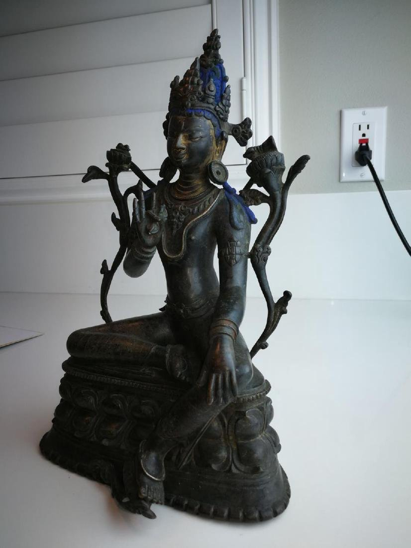 Antique Nepal or Tibet Bronze Buddha - 5