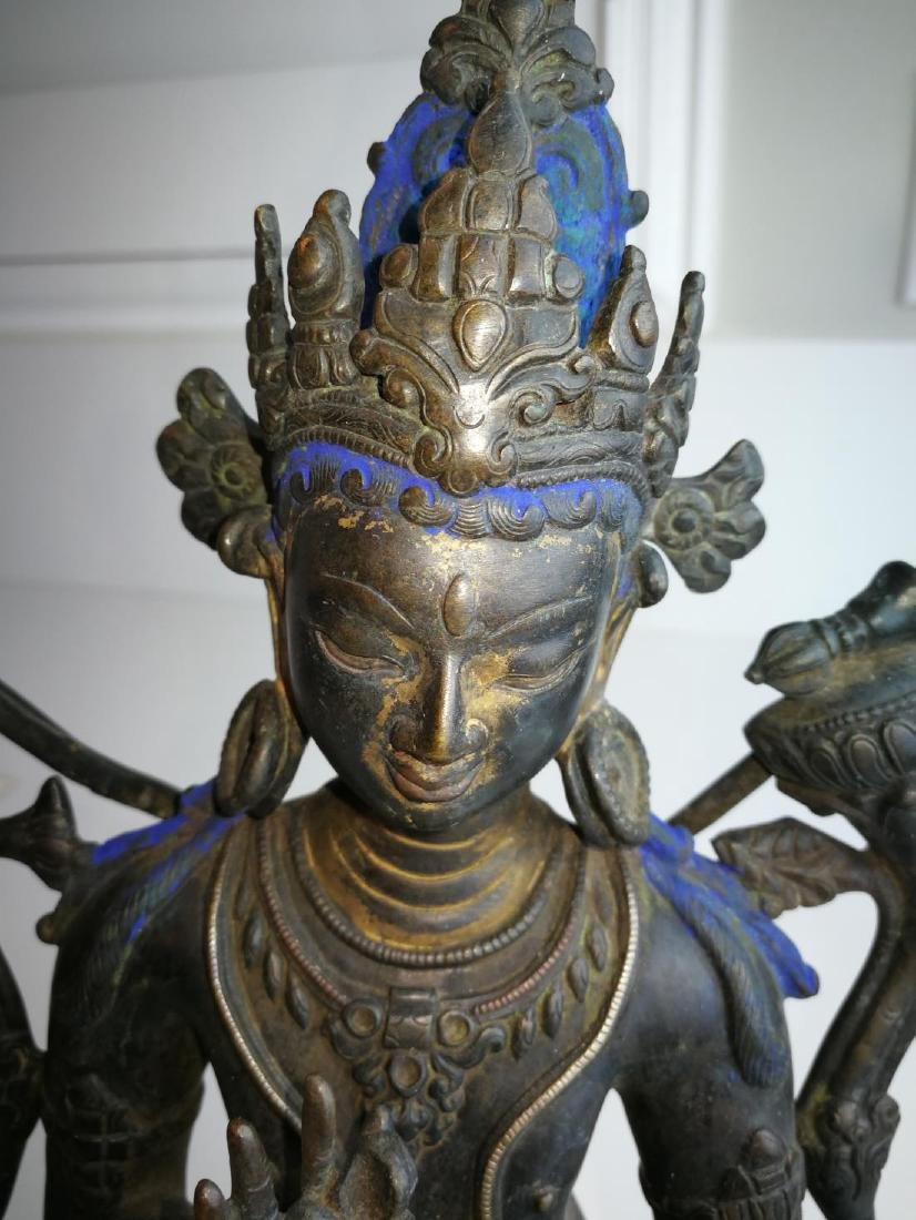 Antique Nepal or Tibet Bronze Buddha - 6